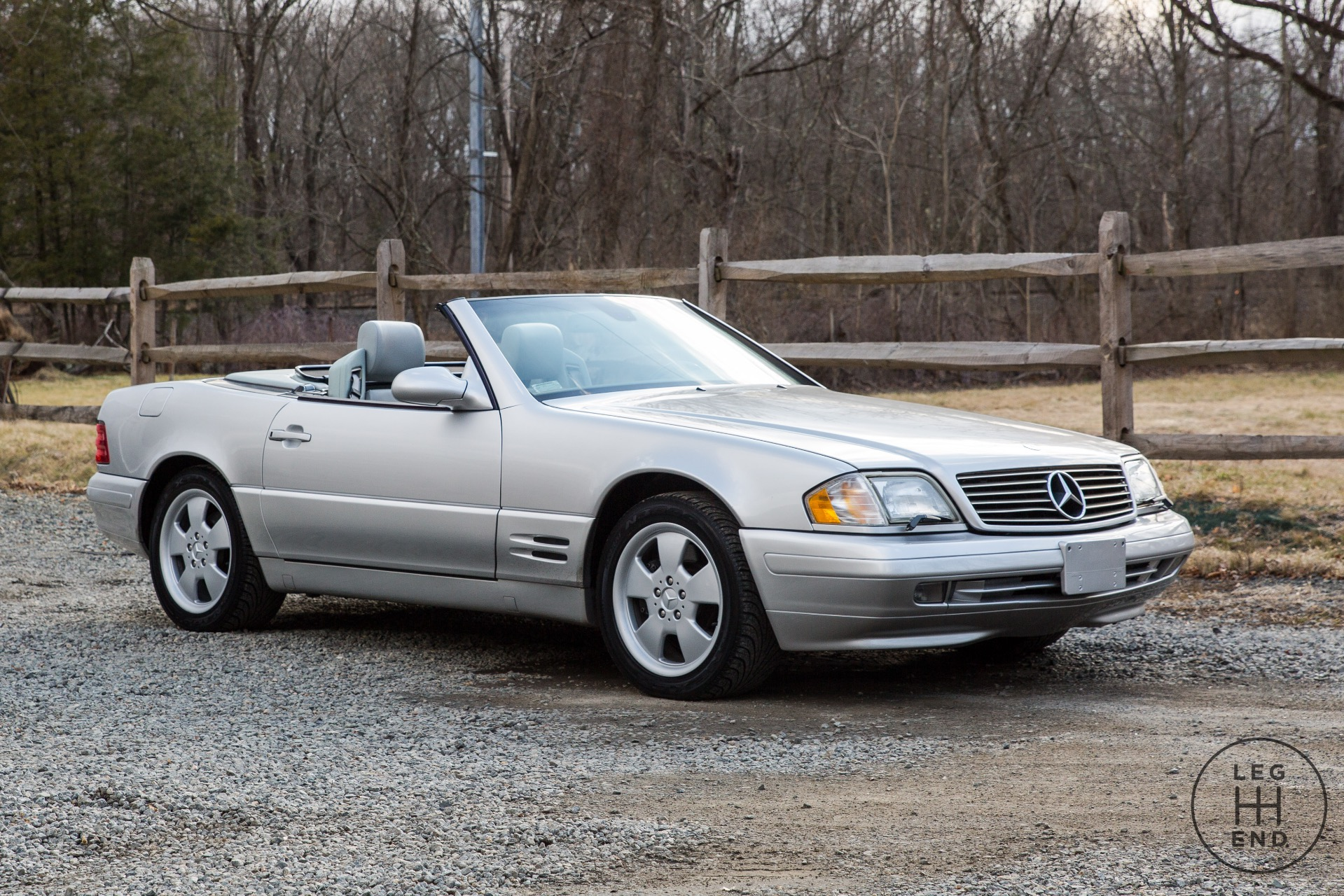1999 mercedes benz sl500 sl 500 65 713 miles silver for Mercedes benz 500 convertible