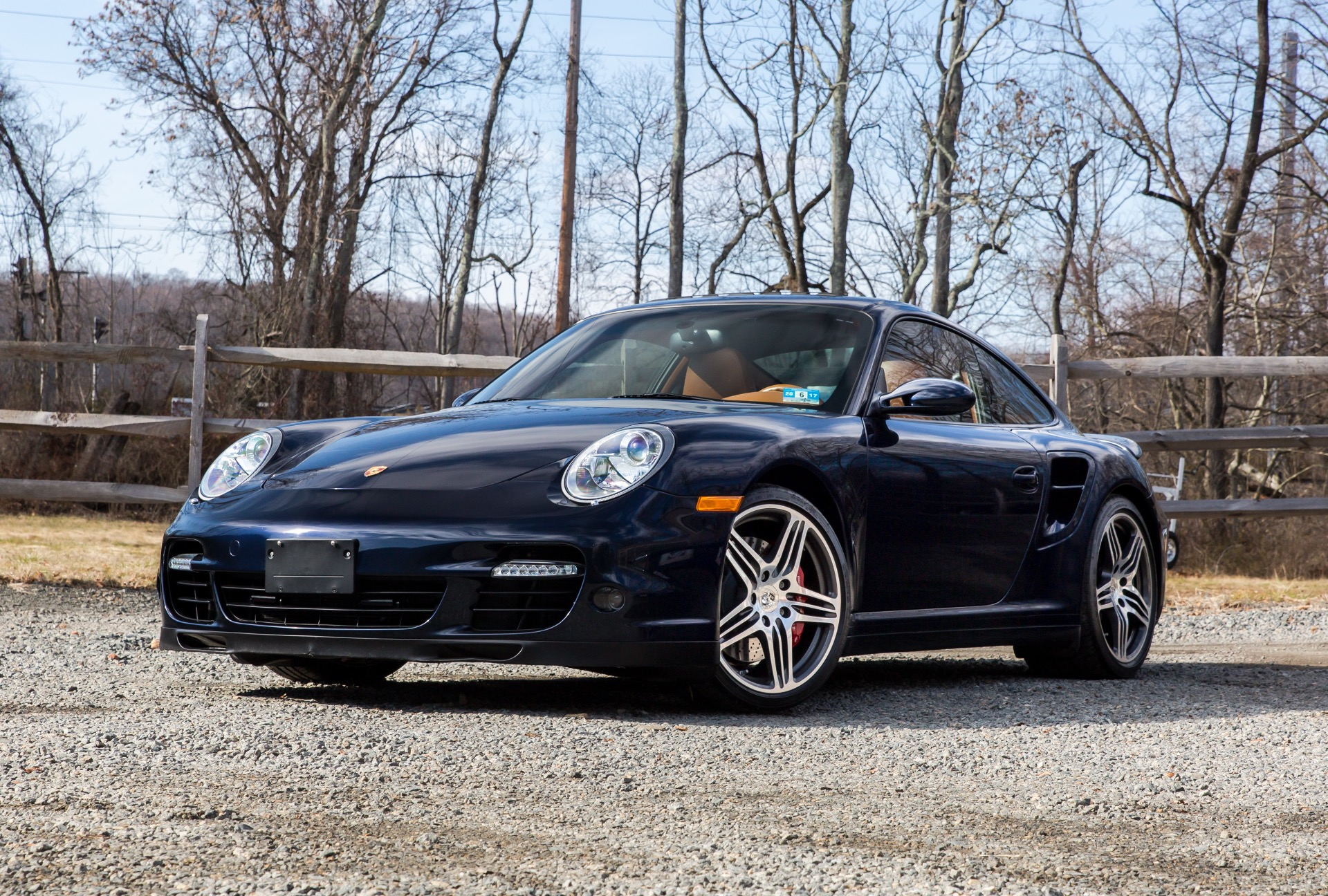 2007 porsche 911 turbo turbo 21 994 miles blue coupe. Black Bedroom Furniture Sets. Home Design Ideas